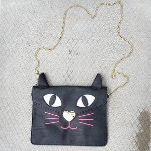 Betsey Johnson Cat Clutch Crossbody